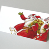 Christmas Cards: Santa Claus walking with friends