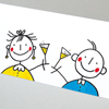 Chin Chin, New Year greeting cards
